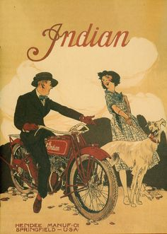 historyinposters:  Indian motorcycle advertising poster from 1920s
