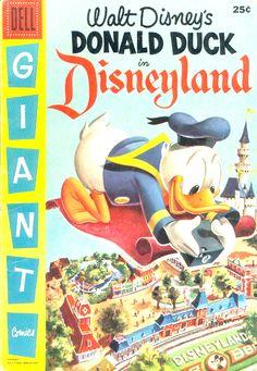 COMIC donald duck in disneyland #comic #cover #art