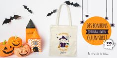 Sacs Tote Bags, Reusable Tote Bags, Creations, Boutique, Anniversary Chalkboard, Happy Halloween, World, Boutiques