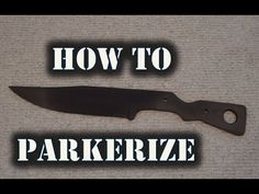 (27) How To Parkerize Metal - YouTube