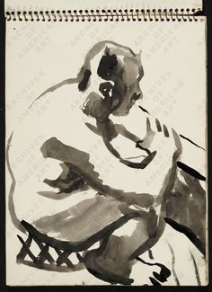 David Park (1911-1960). Figure sketches, circa 1960   Archives of American Art, Smithsonian Institution.