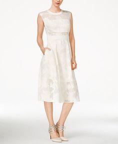 Rachel Rachel Roy Sleeveless Printed Fit & Flare Midi Dress Macey's