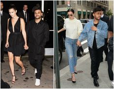 Bella Hadid with her boyfriend The Weeknd