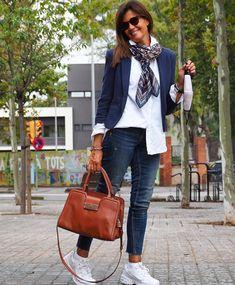 Vogue Fashion, Denim Fashion, Look Fashion, Fashion Outfits, Womens Fashion, Blazer Outfits Casual, Classy Work Outfits, Cool Outfits, Classic Outfits For Women