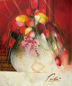 Raymond Poulet Picasso, Art School, Glass Vase, Sculpture, Fine Art, Illustration, Flowers, Painting, Acrylics