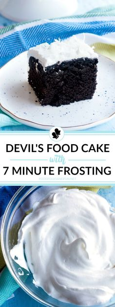 This is the best homemade Devil's Food Cake recipe I've ever tried, and it's covered in fluffy, thick and glossy 7 Minute Frosting. It make the perfect dessert anytime of the year! Cake Frosting Recipe, Frosting Recipes, Chefs, Cheesecake Recipes, Dessert Recipes, Baileys Cheesecake, Seven Minute Frosting, Delicious Restaurant, Homemade Cakes