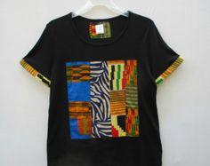 Dashiki T Shirt Tribal Print shirt African Print Shirt by Shipella
