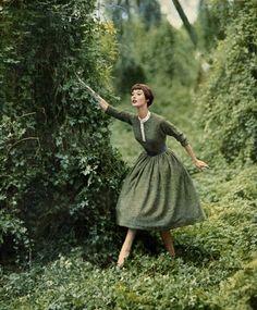 Barbara Mullen wearing dress by Greta Plattry 1954Photo by Richard Avedon