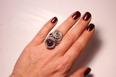 Silver Amethyst Ring Amethyst Jewelry Amethyst Silver Ring