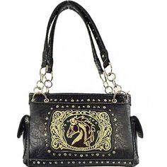 Embroidery Horsehead Collection Western Handbag