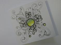 Gem stone Zentangle, eigen werk