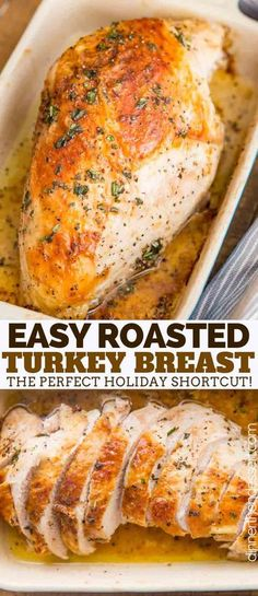 Roast Turkey Breast made with butter herbs salt and pepper has tender juicy meat and CRISPY skin and roasts in only 90 minutes! Roast Turkey Breast made with butter herbs salt and pepper has tender juicy meat and CRISPY skin and roasts in only 90 minutes! Thanksgiving Dinner For Two, Turkey Dinner Ideas, Christmas Dinner Recipes Turkey, Best Turkey Breast Recipe Thanksgiving, Recipes For Turkey, Sides For Turkey Dinner, Christmas Chicken Recipes, Christmas Dinner For Two, Thanksgiving Turkey Dinner