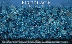 Cobalt Blue Crystal Fireplace Glass