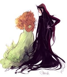 Hades and Persephone, dual female version. Fantasy Inspiration, Character Design Inspiration, Pretty Art, Cute Art, Mode Poster, Lesbian Art, Hades And Persephone, Lore Olympus, Animation