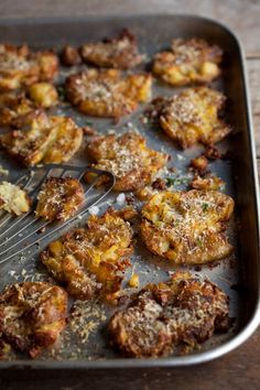 Roasted Smashed New Potatoes with Parmesan