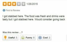 If we left yelp reviews at the inns