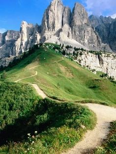 Photographic Print: Sello Massif, Passo Gardena Poster by John Elk III : Nature Landscape, Italy Landscape, Italy Vacation, Italy Travel, Parc National, National Parks, Places To Travel, Places To Visit, Italy Holidays