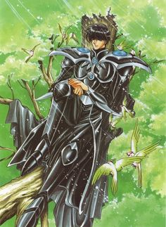 Lantis by Magic Knight Rayearth Old Anime, Anime Manga, Anime Love, Anime Guys, Magic Knight Rayearth, Fanart, Another Anime, Orient, Manga Games