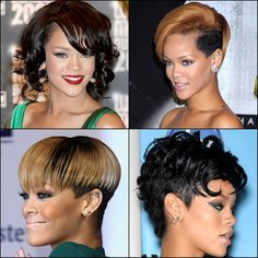 2013 African American Short Hairstyles from Rihana - New Hairstyles, Haircuts & Hair Color Ideas