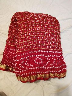 Indian Traditional Handmade Indian Saree Rajasthani Bandhani red color silk saree Gathchola Bandhej saree with blouse Saree Blouse Patterns, Saree Blouse Designs, Dress Patterns, Indian Sarees, Silk Sarees, Bandhani Dress, Bridal Lehenga Collection, Bridal Silk Saree, Indian Designer Outfits