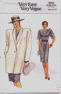 80s Very Easy Very Vogue Pattern 9653 Womens by CloesCloset, $8.00
