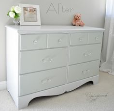 Two Tone Treasure + How to Paint Furniture - Centsational Girl useful for painting old furniture.need to find similar products here Old Furniture, Paint Furniture, Furniture Projects, Furniture Makeover, Home Projects, Repainting Furniture, Dresser Refinish, Repainting Cabinets, Furniture Design