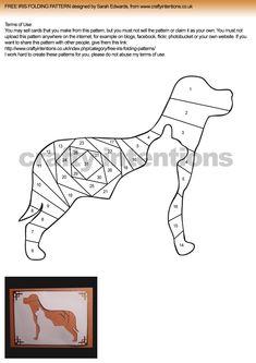Cat inside Dog Iris Folding Pattern | Crafty Intentions