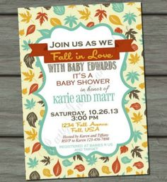 Baby Shower: Fall Themed Baby Shower Invitations To Help Your Creativity In…
