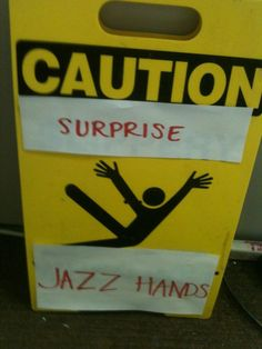 Jazz hands are always funny.