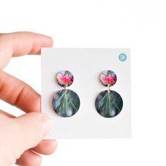 Gum-flower-double-dangle    #australiangifts #australiana #handmadeaustralia #statementearrings #greenearrings #flowerearrings Green Earrings, Leaf Earrings, Flower Earrings, Etsy Earrings, Statement Earrings, Dangle Earrings, Australian Gifts, Australian Bush, Pop Up Market