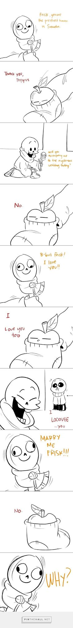 Undertale comic, Theatre of Papyrus, part 1 - created via https://pinthemall.net