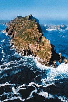 Cape Point. Atlantic meets Indian Ocean. Known as 'Two Oceans' South Africa  We