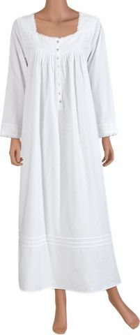 eileen west fairy tale flannel nightgown three quarter sleeve - Flannel Nightgowns