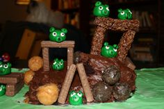 Angry Birds cake - site has photos of a dozen or so, plus links to supplies and tutorials