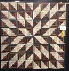 Inspiration :: Star Log Cabin quilt by Wendy J. Thompson. This can be easily crocheted using Red Heart's free pattern for the Log Cabin square: http://www.ravelry.com/patterns/library/log-cabin-comfort-throw . . . ღTrish W ~ http://www.pinterest.com/trishw/ . . . #crochet #afghan #blanket #throw