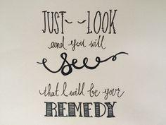 A personal favorite from my Etsy shop https://www.etsy.com/listing/261245234/adele-lyrics-print-remedy-lyrics