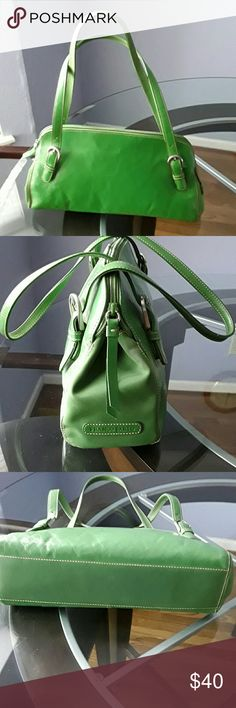 Flash sale...Franco Sarto Green Leather bag Temporary price drop until 2/3... $32  Spring is around the corner beautiful Green handbag,  In excellent condition,  no tears, some pin marks inside, all stitching in place. Franco Sarto Bags Shoulder Bags