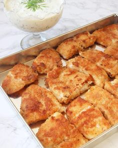 Panerad fisk Fish Recipes, French Toast, Food And Drink, Lunch, Meals, Breakfast, Ethnic Recipes, Food Food, Dinner Ideas