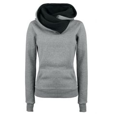 Wholesale Casual Style Loose-Fitting Solid Color Long Sleeve Women's Hoodie Only $8.79 Drop Shipping | TrendsGal.com
