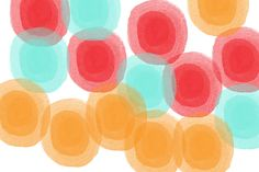 Abstract Circles Painting - Summer Sorbet- Abstract Painting by Linda Woods