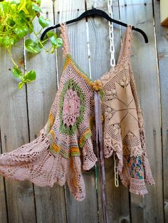 Lucy's Rosebuds in Coffee Vintage Handy dyed crochet top. $125.00, via Etsy.