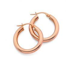 Hoops never go out of style! 9ct Rose Gold Polished 3/15mm Hoop Earrings