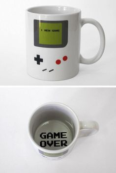 Game boy coffee cup - Game Over Gadgets, Game Boy, My Coffee, Coffee Cups, Drink Coffee, Funny Coffee, Coffee Beans, Take My Money, Geek Out