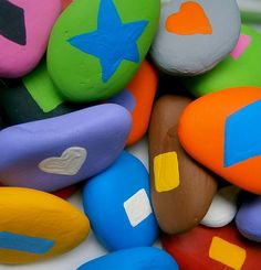 Teaching Shapes and Colors with Rainbow Rocks