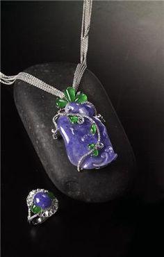 Lavender & Green Jadeite