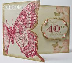 Stampin' Sarah!: Swallowtail Birthday Greetings from Stampin' Up! UK Demonstrator Sarah Poulton