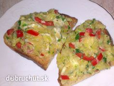 Fotorecept: Cuketová teplá nátierka Avocado Toast, Guacamole, Baked Potato, Potatoes, Dinner, Baking, Breakfast, Ethnic Recipes, Easy