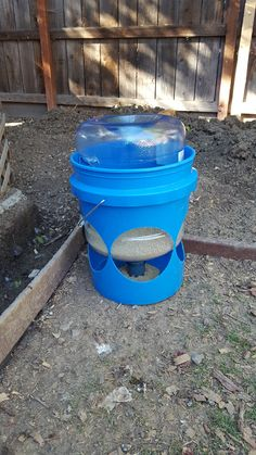 Aart s waste free funnel bucket feeder Chicken Barn, Best Chicken Coop, Backyard Chicken Coops, Chicken Coop Plans, Building A Chicken Coop, Backyard Chickens, Mobile Chicken Coop, Portable Chicken Coop, Chicken Feeders