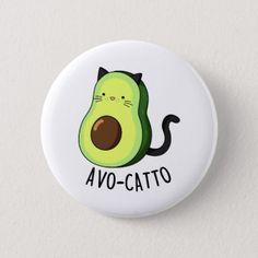 Shop Avocatto Cute Avocado Cat Pun Button created by punnybone. Cute Easy Paintings, Simple Canvas Paintings, Easy Canvas Art, Cute Easy Drawings, Funny Paintings, Small Drawings, Doodle Drawings, Rock Painting Patterns, Rock Painting Ideas Easy