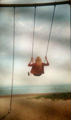 My friend on a swing